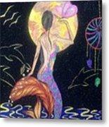 Dreaming Mermaid Metal Print