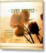 Dreams In Roses - Vintage - Verse Metal Print