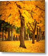 Dreamy Autumn Day Metal Print