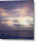 Dreamy Blue Atlantic Sunrise Metal Print