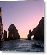 Dreamy Cabo Sunset The Arch Metal Print