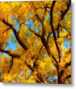Dreamy Crisp Autumn Day Metal Print