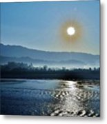 Dreamy Morning On The Ganges Metal Print