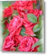 Dreamy Red Roses - Digital Art Metal Print