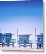 Dreamy Santa Monica Beach Metal Print