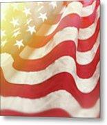 Dreamy Usa Flag 1 Metal Print