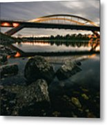 Dresden Waldschloesschenbridge Sunset Metal Print