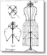 Dress Form Patent 1891  Metal Print