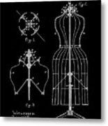 Dress Form Patent 1891 Black Metal Print