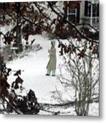 Dressed For Snow Metal Print