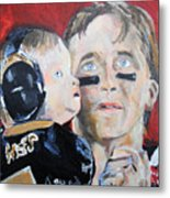 Drew Brees And Son  Metal Print