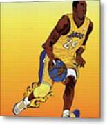 Dribbling The World Metal Print