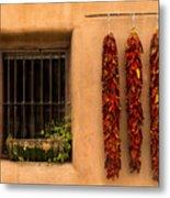 Dried Chilis And Window Metal Print