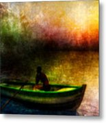 Drifting Into The Light Metal Print