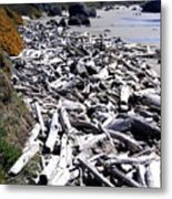 Driftwood By The Ton Metal Print