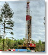 Drilling For Oil In South Alabama Metal Print