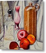 Drink And Fruit Metal Print by Ron Sylvia