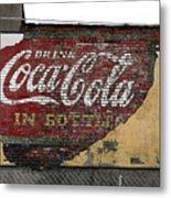 Drink Coca Cola In Bottles 2 Metal Print