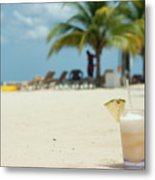 Drink In The Sand Metal Print