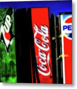 Drink Vending Machines Metal Print