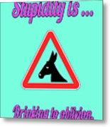 Drinking Bigstock Donkey 171252860 Metal Print