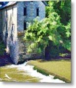 Drinkwater And Schriver Mill Cedar Point Kansas  Metal Print