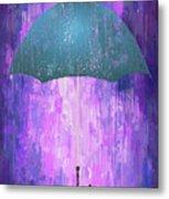 Dripping Poster Purple Rain Metal Print