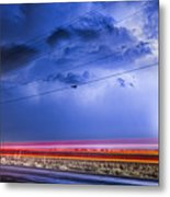 Drive By Lightning Strike Metal Print