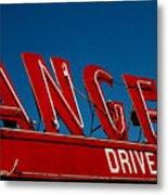 Drive In- California  Metal Print