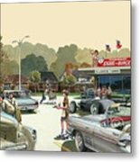 Drive In Days Metal Print