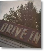 Drive In II Metal Print