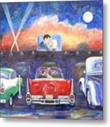 Drive-in Movie Theater Metal Print