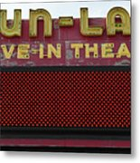 Drive Inn Theatre Metal Print by David Lee Thompson