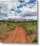 Drive To Loy Canyon, Sedona, Arizona Metal Print