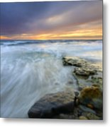 Driven Before The Storm Metal Print