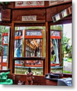 Driver St. Charles Trolley New Orleans Metal Print