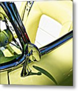 Driver's Seat -- 1958 Chevrolet Corvette At The Golden State Classic Car Show, Paso Robles Ca Metal Print