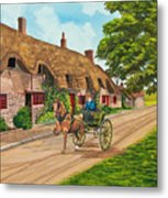 Driving A Jaunting Cart Metal Print