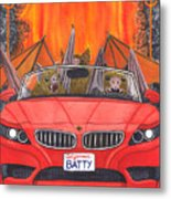 Driving Like Bats Out Of Hell Metal Print