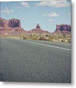 Driving Monument Valley Metal Print