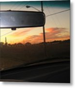 Driving Red Clouds....... Metal Print