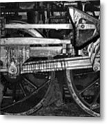 Driving Wheels Metal Print