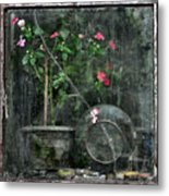 Drizzled Window Metal Print