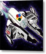 Drobot Space Fighter Metal Print