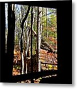 From Inside An Old Barn Metal Print