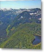 Drone Shot Of Lake Evan Metal Print
