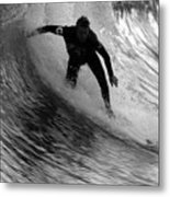 Dropping In At San Clemente Pier Metal Print by Brad Scott