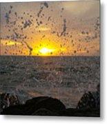 Drops, Sun And Sea Metal Print