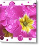 Bubbly Pink Raindrops  Metal Print
