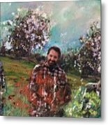 Dror And The Almond Trees Metal Print